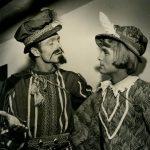 Carroll Rice, right, in Twelfth Night, Old Globe Theatre, 1950